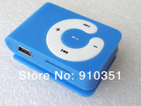 Free ship Mini Clip MP3 player with micro sd card slot (only clip mp3 player) support 8GB no earphone no usb