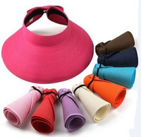 2014 summer Korean mom and children beach hat sunhat open-top hat, sun block foldable big visor hat