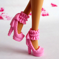 Free shipping Mix Style Mix Color High-heeled shoes four colors For Barbie Doll hot