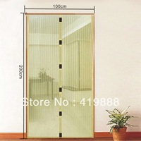 New Magnetic Anti Mosquito Bug Beige Color 200cm L x 100cm W Magic Mesh Screen Door