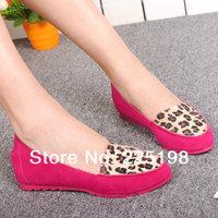 Women's Flats 2014 New leopard round toe flat shoes comfortable women's shoes Europen lady flats plus size 35-40