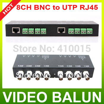 CCTV 8CH Channel Passive Video BNC to UTP RJ45 Balun transmits CAT5 Camera DVR Balun