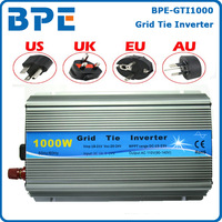 New Arrived!! Grid Tie 1000W Pure Sine Wave Solar Inverter for PV Power 1200W, DC10.5V~28V to AC90V-140V/190V~260V free shipping