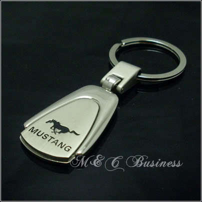 Sales Promotion!MUSTANG Car Chrome Key Ring Key Chain(China (Mainland))