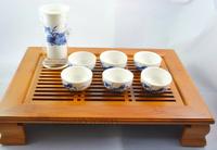 blue and white porcelain Tea set, 8pcs /set with bamboo tea tray,teapot for black tea,tea cups,free shipping!!!
