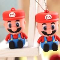 Hot sale Cartoon Super Mario 4GB-32G USB 2.0 Memory Flash Drive PenStick/Gift pendrive 8gb