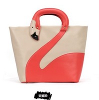 free shipping 2013 fashion lady shoulder bag high quality PU leather swan handbags wholesale H1039
