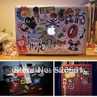 100 pcs/lot 5-12cm Popular Brand Sign Music Band Harajuku Cartoon luggage Computer stickers laptop skins Motorcycle Car Stickers