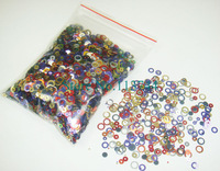 50g/bag x Mixed Colors Dazzling Small Round Circles Paillette Spangles Shape for Nail Art Decoration -Free Shipping Wholesale