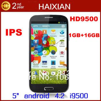 Star HD9500 phone 5.0 inch 1280*720 IPS screen MTK6589 Quad Core 12MPcamera GPS 1GB RAM 16GB ROM mobile phone