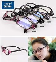 NEW 2014 Hot Fashion 100% UV400 blue film Men's Reading glasses Frame plain mirror radiation computer Female goggles unisex