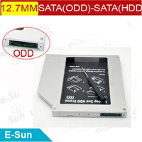 2013 100% Brand new 12.7mm SATA to SATA  Universal Aluminum 2nd hdd caddy For Laptops Free shipping