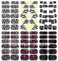 Hot 16 styles (12 pcs/set) optional Nail Polish sticker French Manucure Nail Patch 16 sets topwin