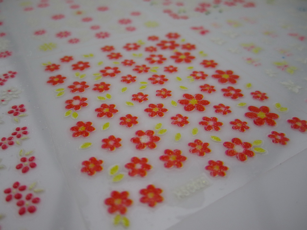 3D nail art decorations sticker mix pattern nail DIY 3D flower sticker water transfer decals 30 sheets/lot free shipping(China (Mainland))