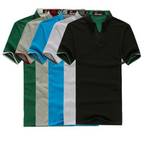 Freeshipping wholesale mens cotton multi-color polo shirt short sleeve plain t-shirts, mens polo shirts MP001