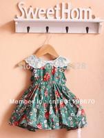 Free shipping New Brand summer Bohemian baby girl clothing beautiful Princess dress kids for 2-5 years size #80~120 dropshipping