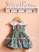 Free shipping New Brand summer Bohemian baby girl clothing beautiful Princess dress kids for 2-5 years size #80~120 dropshipping