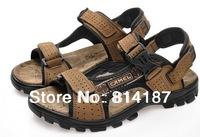 2014 Sandals Female Beaded Flower FLat Flip-flop flats men's sandals Shoes, casual beach camel slippers