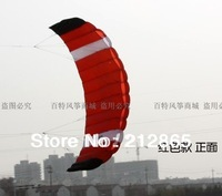 Free Shipping!!2.6m 2 Line Stunt Parafoil POWER Sport Kite/red