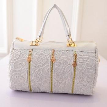 2014 Casual Women's Lady Retro Lace Handbag PU Faux Leather Designer Tote Crossbody Shoulder Bag