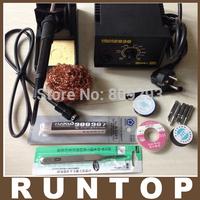 Free shipping  220V 50W 936 Soldering Station Digital Solder Iron+ Hakko A1321+ free Tips +Solder Wire