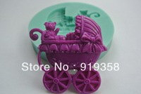 Hot Sale Fondant Cake Decorating Tools 3D Silicone Mold Fondant Baby Carriage Kitchen Bakeware Cooking Tools Sugar Craft Tools