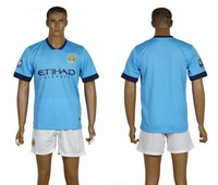Free shipping ! 14-15 new seaosn best Thai quality Man City white color soccer jersey ,soccer uniform kit ,football shirt