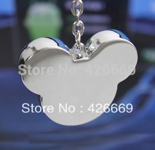 Metal Mickey Head 2GB/4GB/8GB/16GB/32GB/64GB USB 2.0 Flash Drive Memory Stick U Disk Free Shipping