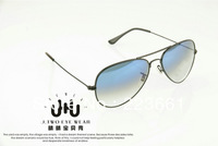 2013 Brand designer fashion rb sun glasses for women/men vintage sun glasses aviator gradient blue/colored lens Free shipping