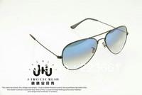 2013 Brand designer fashion rb sun glasses for women/men vintage sun glasses aviator gradient blue/colored lens Free shipping