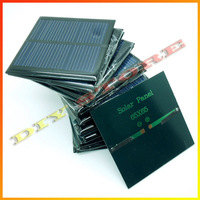 20pcs/lot solar panels  5.5v 90mA 0.6W mini solar cell 6.5x6.5 for Small power appliances drop shipping +free shipping-10000581