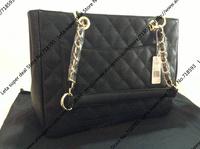 34CM Size Classic Designer Caviar leather Square Women Tote bag / Big Square tote With Bright Golden Chain (BG080)