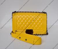 25CM Fashion Classic Le Boy Flap Bag Lambskin Leather Flap Boy Bag With Aged Chain Leather Shoulder Strap (BG043)