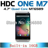 HDC one M7 Android 4.2 Smart cell phone S4 G4 MTK6589 1.2GHz Quad core 5 inch 1280x720 3G mobile phone 1GB RAM Built-in 16GB