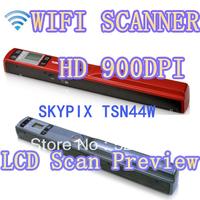 SKYPIX Tsn44w  Portable Scanner Wireless Wifi Scanner HD handheld mini scanner Files \ Photos \ Card Scanning Free Shipping