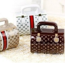 New arrival Direct selling High quality fashionable handbag style coffee mug Bag cup of 4 designs(China (Mainland))