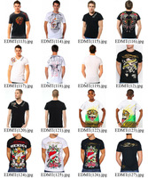 Free Shipping 200 Style ED HARDY Men's T-Shirts ed men t shirt  ED01