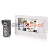 new-arrival video door phone 7inch TFT screen aluminium-alloy monitor 700tvl Cmos Night Version Camera Door Bell
