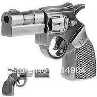Free Shipping Hot Attractive Metal Gun usb flash drive metal Gun usb 2.0 memory pen disk thumb toy gun Full Capacity pendrive