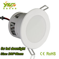 Free shipping Wholesale  5w cob led downlight  500lm, 85-265v,   WW,NW,CW, living room light