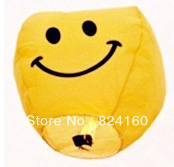 (30pcs/lot)(free shipping)(Smiling face ) Chinese Sky Lantern Wishing lamp paper China lantern ballons