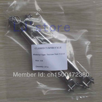 """M8/(5/16"""") Thread Stainless Steel 316 Closed Body Turnbuckle Rigging screw Jaw & Jaw 2Pcs"""