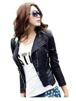 Free Shipping New Arrival Discount Women Autumn Spring Pu Leather Jackets,Short Fashion Big Size Leather Coat  M L XL XXL XXXL