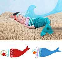 1 Set Handmade Mermaid baby infant girl three-piece clothing accessories Novel baby girl wear present  3-12M 720005J