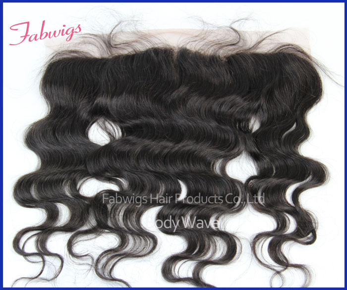 "UPS Freeshipping!Virgin Brazilian Lace Frontal 13x4"" Chepest Human Hair Frech lace Front Closure 10-18"" Bleach knots Hair Piece(China (Mainland))"