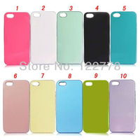 200pcs/lot Soft TPU Gel Skin Case for iPhone 5, Candy Colourful Warm TPU Back Cover for iPhone 5 Case, DHL Free Shipping