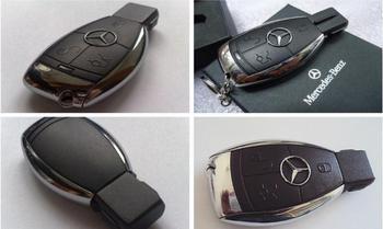 Wholesale Cheap Metal Benz Model 100% Capacity 8GB 16GB 32GB USB 2.0 Flash Memory Stick Drive Pen/Thumb/Car Key Gift
