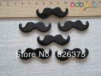 30pcs/lot Wholesale Hot Selling Black Moustache, Resin Flatback Cabochons for Phone Deco, Embellishment, DIY, Free Shipping