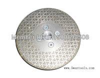 electroplate diamond vanity saw blade, pyramid diamond grind cutting wheel with flange