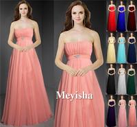 ZJ0013 2015 new arrival chiffon peach color country style bridesmaid dresses plus size maxi orange blue royal purple burgundy